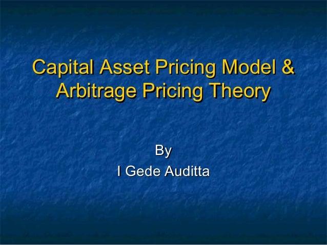 capital asset pricing model capm vs arbitrage pricing