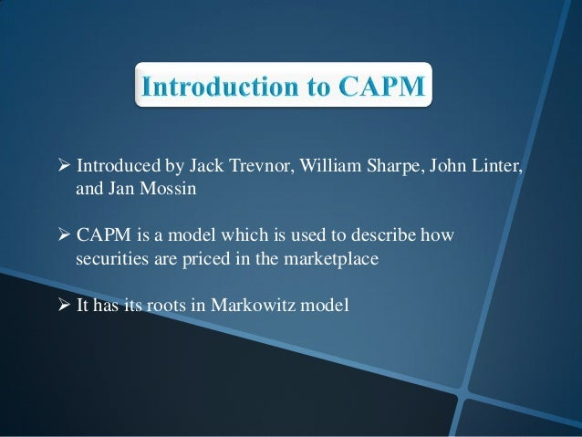 Does the Capital Asset Pricing Model Work?