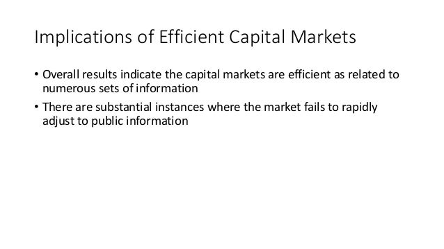 capital asset pricing model efficient market In finance, the capital asset pricing model  either that fact is itself rational (which saves the efficient-market hypothesis but makes capm wrong), .