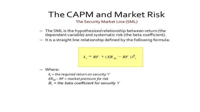 cost of stock rs for your company using the capm sml Question 1 1 which of the following statements is incorrect a the slope of the security market line is measured by beta b two securities with the same stand-alone risk can have different betas c company-specific risk can be diversified read more.