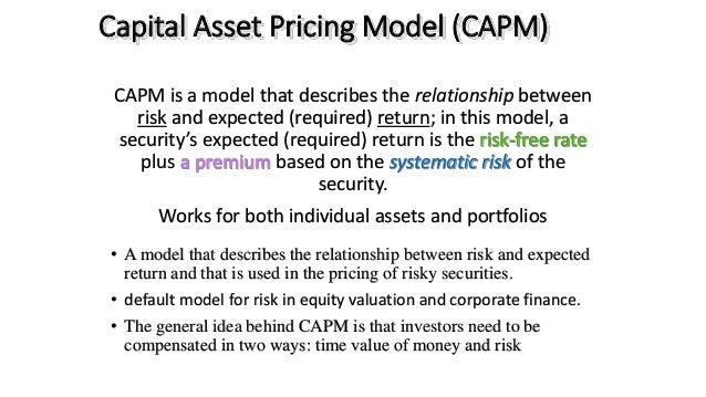 traditional capital assets pricing model Investment analysts face several conceptual and practical challenges when applying traditional enterprise valuation techniques, conceived in and for the developed markets (dms), to the peculiar economic context of the emerging markets (ems) this paper explores the applicability of the capital asset pricing model.