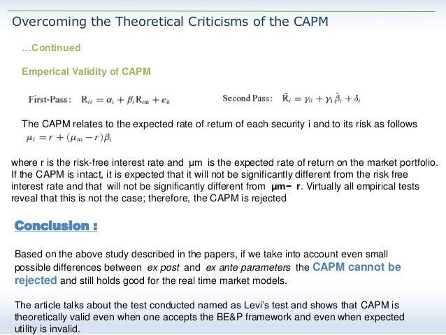 capm criticism