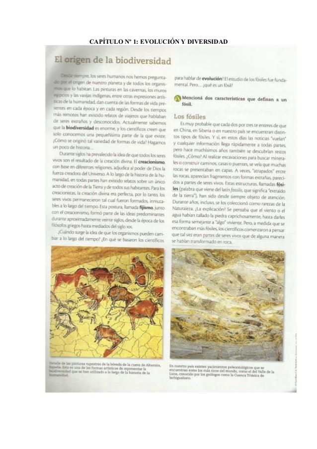 CAPÍTULO Nº 1: EVOLUCIÓN Y DIVERSIDAD