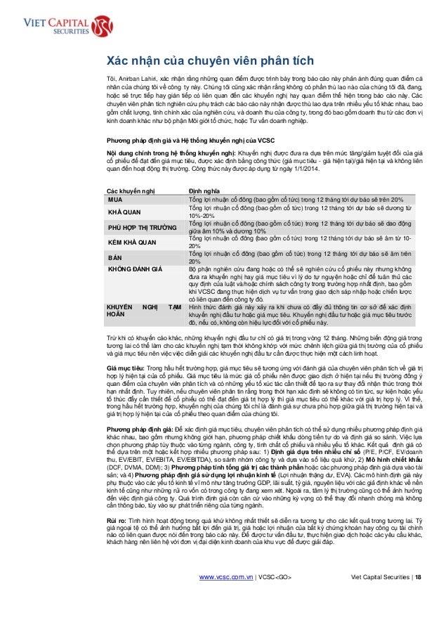 www.vcsc.com.vn | VCSC<GO> Viet Capital Securities | 18 HOLD Xác nhận của chuyên viên phân tích Tôi, Anirban Lahiri, xác n...