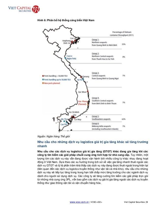 www.vcsc.com.vn | VCSC<GO> Viet Capital Securities | 9 HOLD Hình 6: Phân bố hệ thống cảng biển Việt Nam Nguồn: Ngân hàng T...