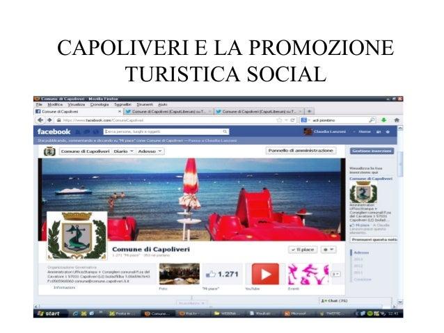 CAPOLIVERI E LA PROMOZIONE  TURISTICA SOCIAL