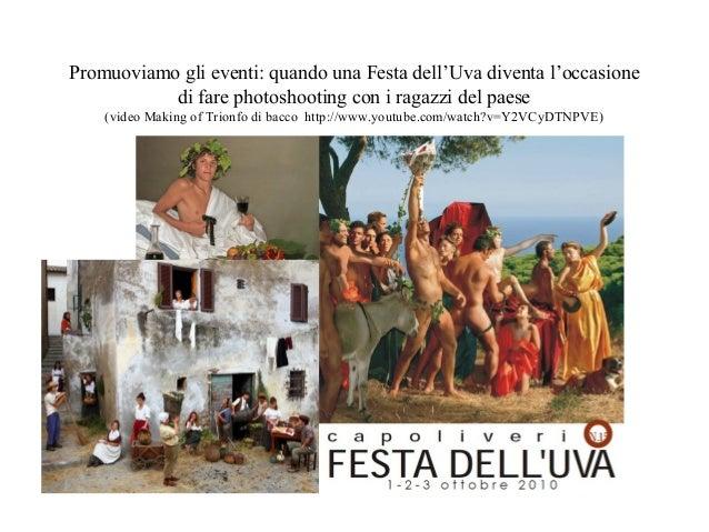 Promuoviamo gli eventi: quando una Festa dell'Uva diventa l'occasione  di fare photoshooting con i ragazzi del paese  (vid...