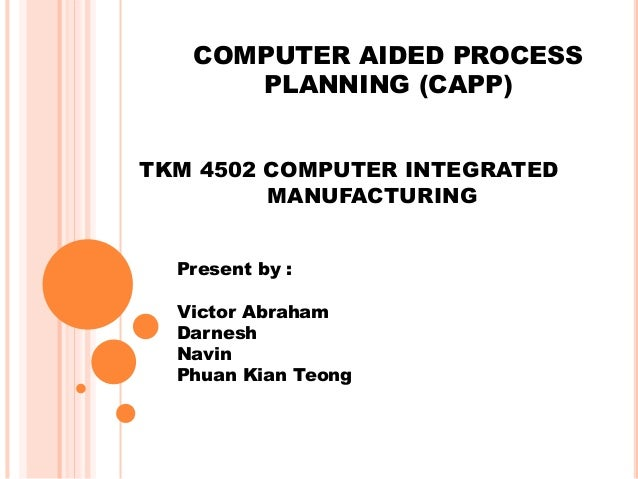 the computer aided process planning Computer aided process planning is a new technique in production technology by schandran_76 in topics  art & design.