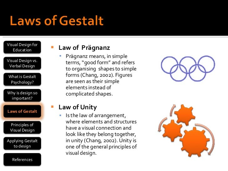 gestalt principles Proposed by the gestalt psychologists in the early 20th century, the gestalt laws of grouping involve a set of principles that accoung for such natural manner of perception.