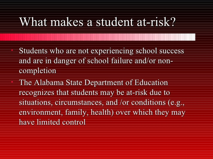 what makes a student at risk