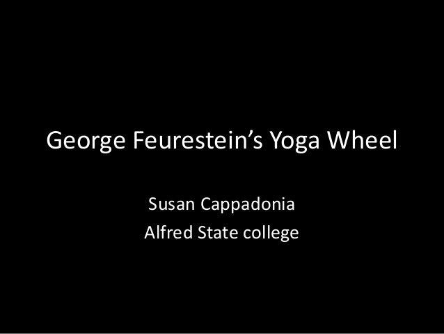 George Feurestein's Yoga Wheel Susan Cappadonia Alfred State college