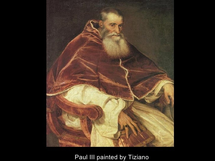 Paul III painted by Tiziano