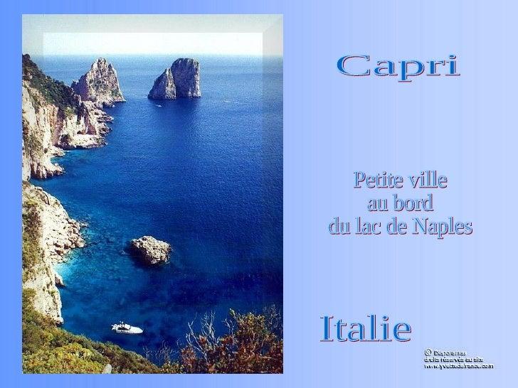 Capri Petite ville au bord du lac de Naples Italie