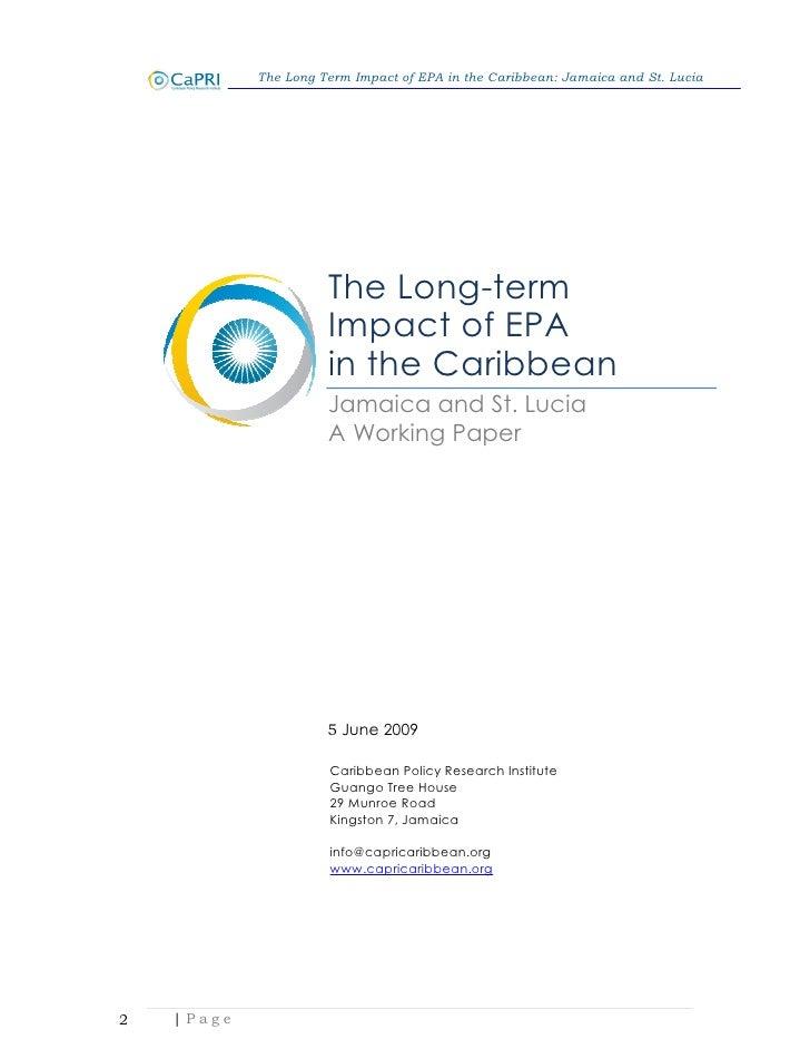 Economic Partnership Agreement Epa St Lucia