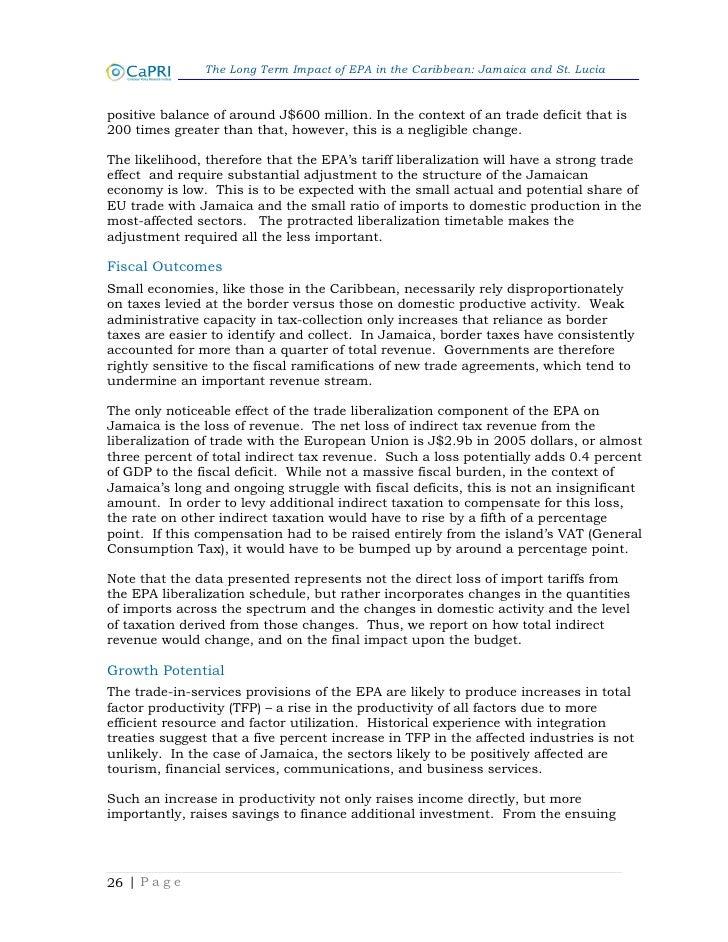 Economic Partnership Agreement EPA St Lucia – Domestic Partnership Agreement
