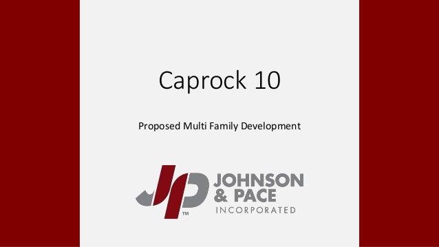 Caprock 10 Proposed Multi Family Development