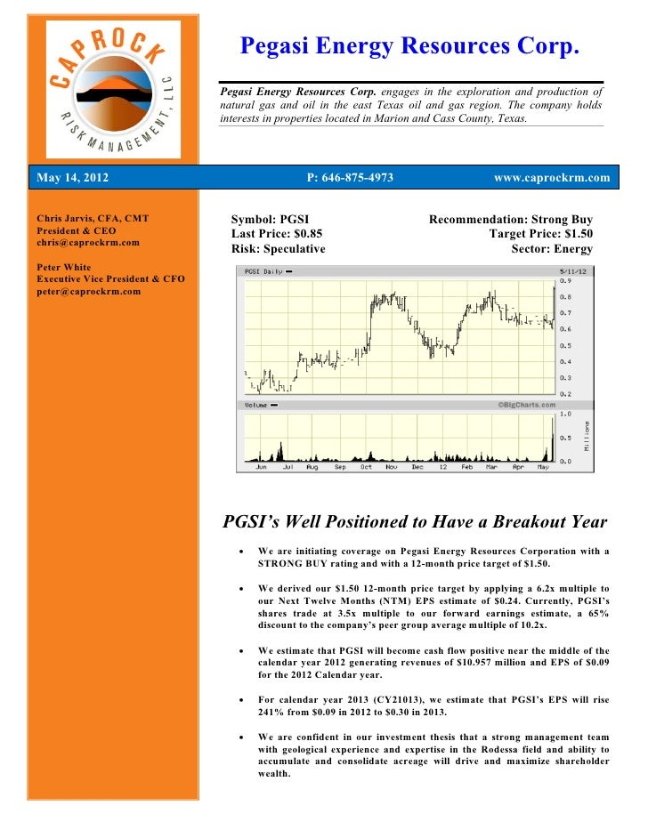 Pegasi Energy Resources Corp.                                 Pegasi Energy Resources Corp. engages in the exploration and...