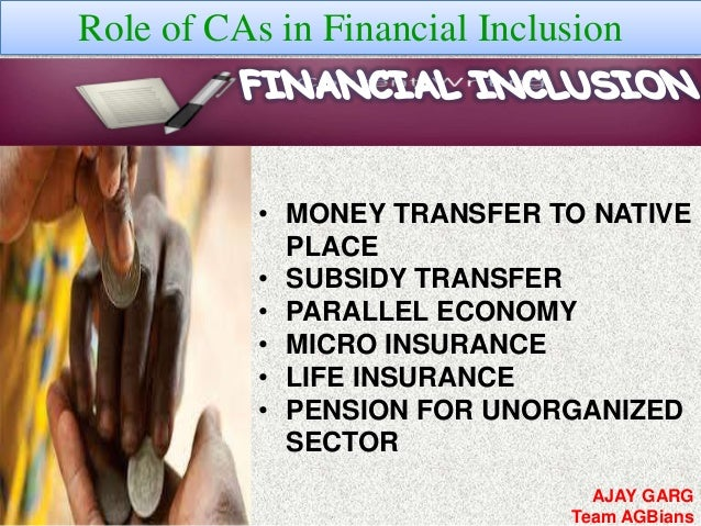 financial inclusion essay Financial inclusion: why this word is being discussed so many times especially after demonetization and entry of digital money read this article and learn topic for gd.