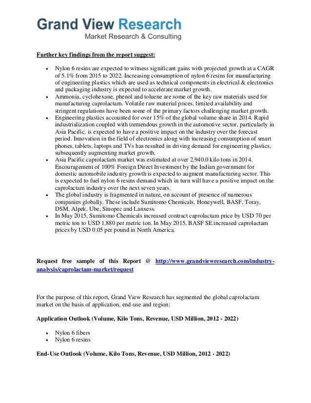 global caprolactam market Caprolactam (cas 105-60-2) market analysis is provided for global market including development trends by regions, competitive analysis of caprolactam (cas 105-60-2) market.
