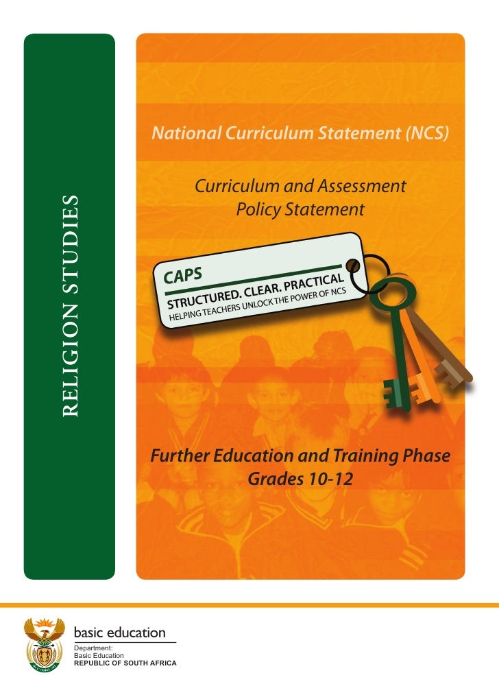 National Curriculum Statement (NCS)                                     Curriculum and AssessmentRELIGION STUDIES         ...