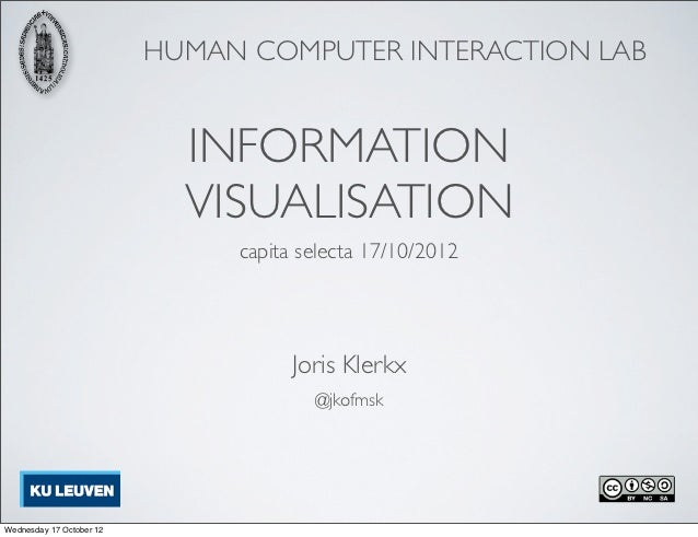 HUMAN COMPUTER INTERACTION LAB                            INFORMATION                            VISUALISATION            ...