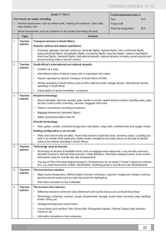 pat tourism phase 2 grade 12 memorandum