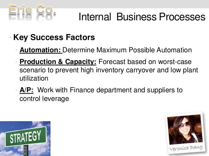 Internal  Business Processes<br />Key Success Factors<br />Automation: Determine Maximum Possible Automation<br />Producti...