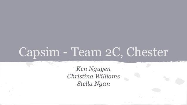 2014 CAPSIM Teams