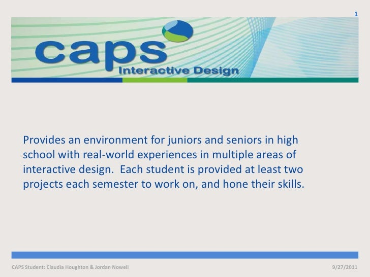 Provides an environment for juniors and seniors in high school with real-world experiences in multiple areas of interactiv...