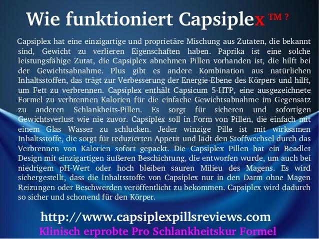 WiefunktioniertCapsiplexTM?CapsiplexhateineeinzigartigeundproprietäreMischungausZutaten,diebekannt    ...