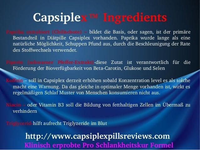 Capsiplex Ingredients     TMPaprika extrahiert (Chilischote) – bildet die Basis, oder sagen, ist der primäre...