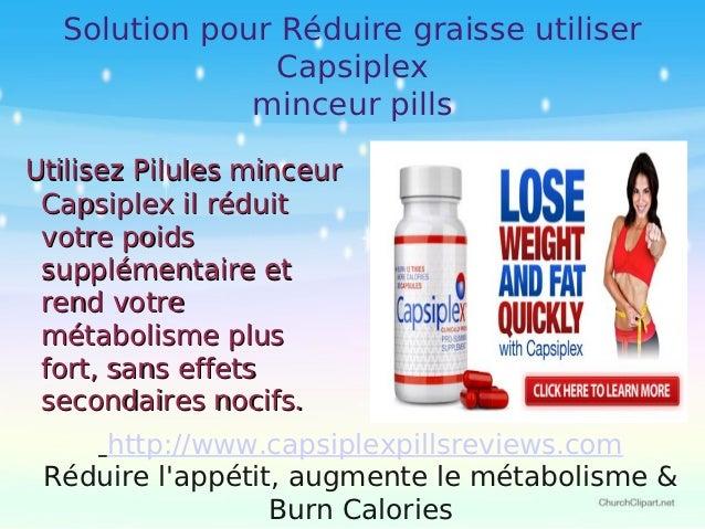 Solution pour Réduire graisse utiliser               Capsiplex              minceur pillsUtilisez Pilules minceur Capsiple...