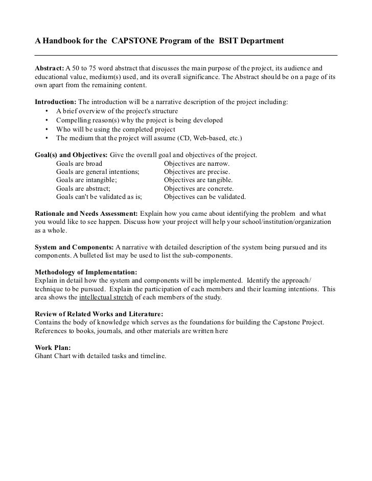 bsit capstone project format