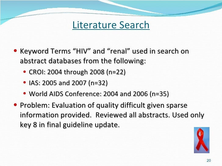 literature review hiv aids dependent variable