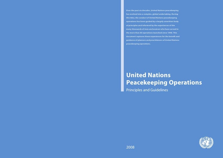 Over the past six decades, United Nations peacekeeping has evolved into a complex, global undertaking. During this time, t...