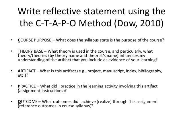 Antigone Reflective Statement Essay