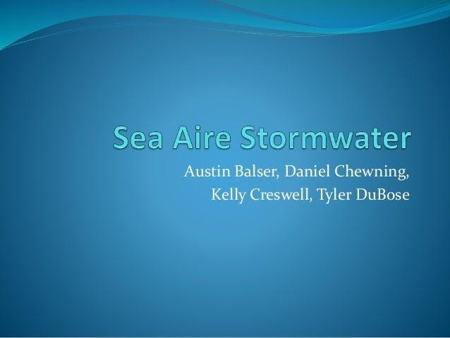 Austin Balser, Daniel Chewning,  Kelly Creswell, Tyler DuBose