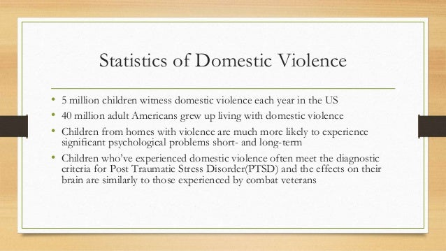 an overview of the effects of violence on child development Living with domestic and family violence is a distressing experience for children the effects can be traumatising, ongoing and long-lasting they can build up over time and impact on every aspect of children's lives, including health, development and wellbeing.