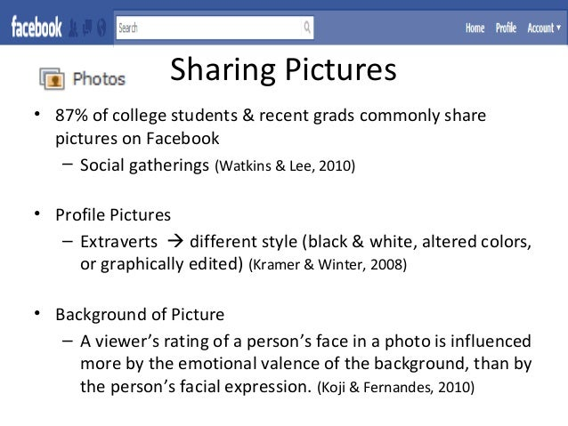 Facebook Profiles and Usage as Indicators of Personality
