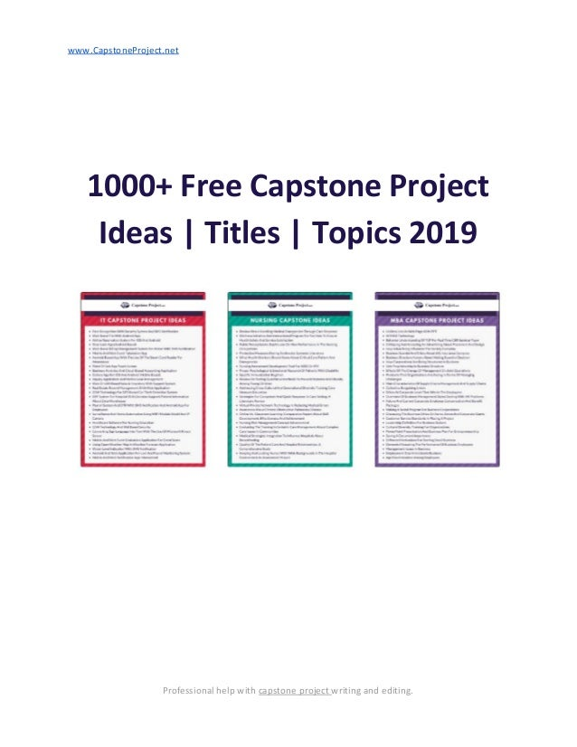 043cc984b4 1000+ Free Capstone Project Ideas | Titles | Topics 2019