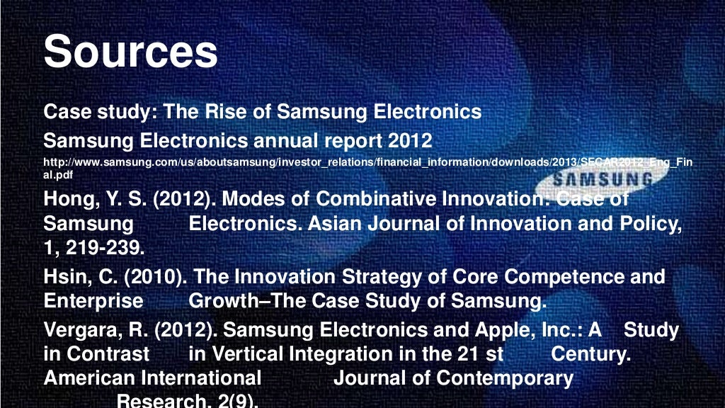 the growth pattern of samsung electronics a strategy perspective This then leads to strategy development covering the following issues discussed we're in electronics or worse still growth patterns and.