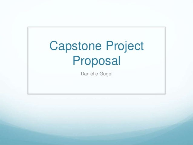 capstone project definition