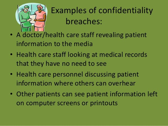 what is breach of confidentiality in healthcare