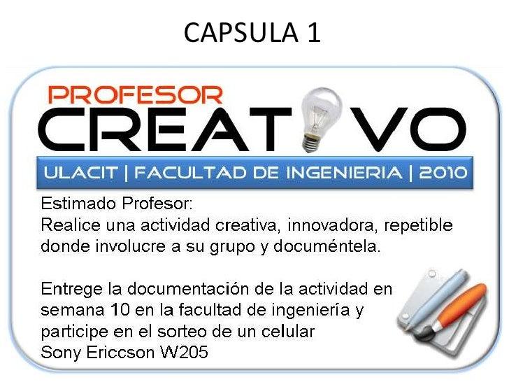 Concurso profesor creativo for Concurso profesor