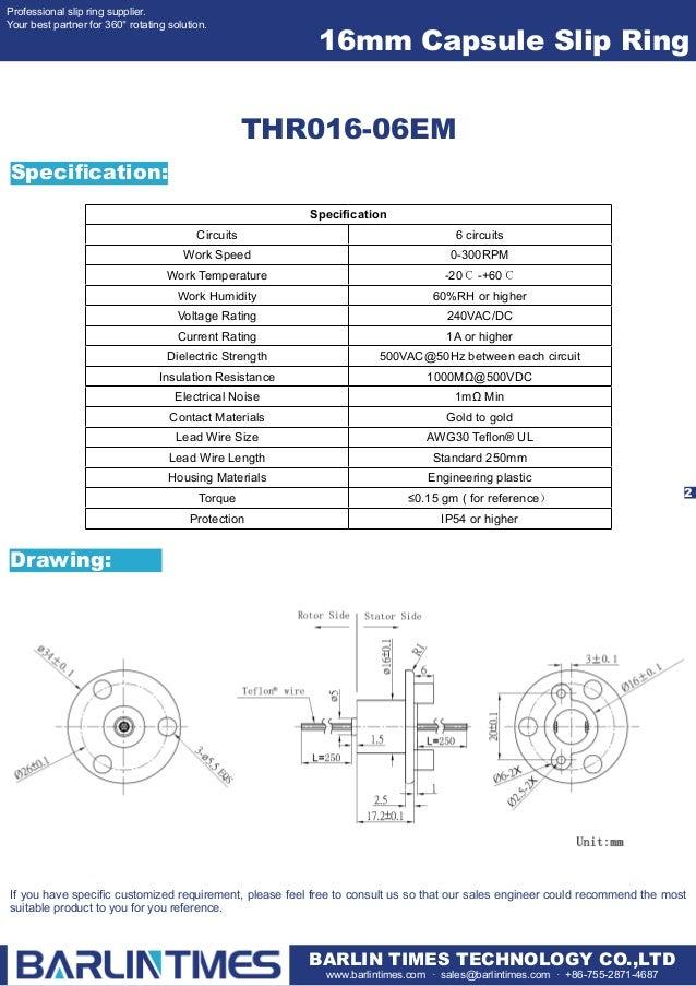 16mm Diameter Capsule slip ring / 16mm Diameter Capsule Series slip r…