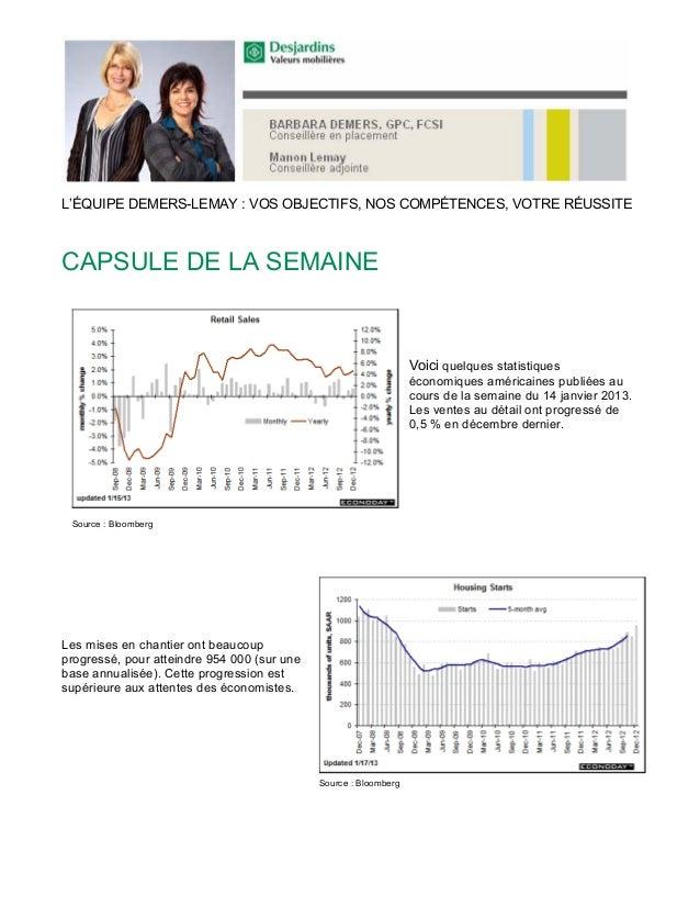 L'ÉQUIPE DEMERS-LEMAY : VOS OBJECTIFS, NOS COMPÉTENCES, VOTRE RÉUSSITECAPSULE DE LA SEMAINE                               ...