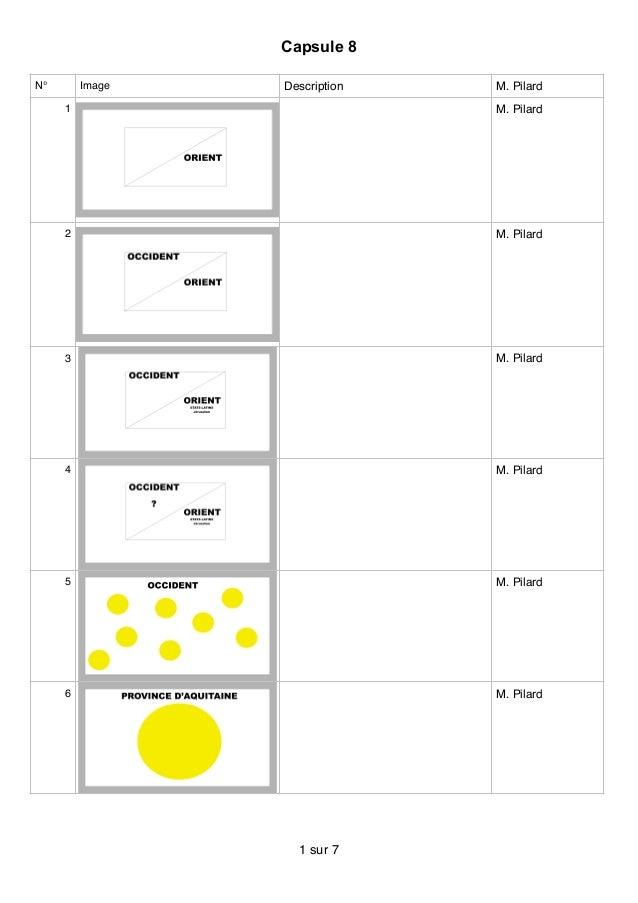 Capsule 8 N° Image Description M. Pilard 1 M. Pilard 2 M. Pilard 3 M. Pilard 4 M. Pilard 5 M. Pilard 6 M. Pilard sur1 7