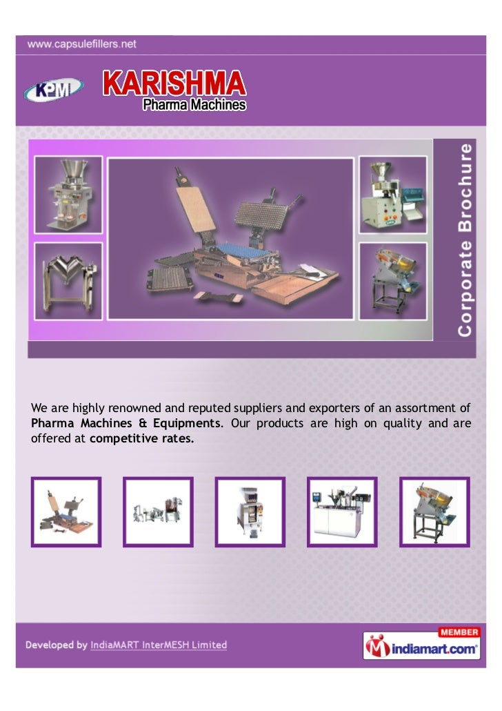 We are highly renowned and reputed suppliers and exporters of an assortment ofPharma Machines & Equipments. Our products a...