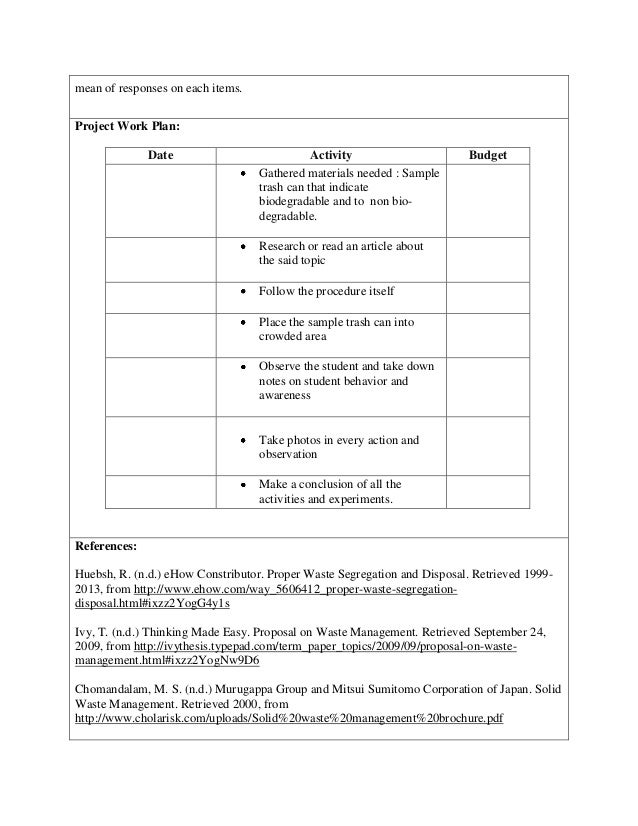Example Of Work Plan For Research Proposal