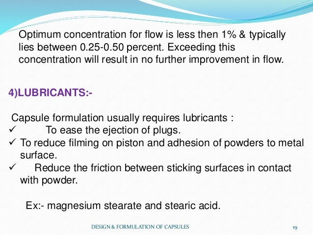 Optimum concentration for flow is less then 1% & typically lies between 0.25-0.50 percent. Exceeding this concentration wi...